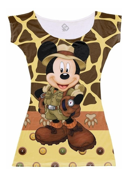 Vestido Aniversário Mickey Safari Fazemos Todos Tamanhos