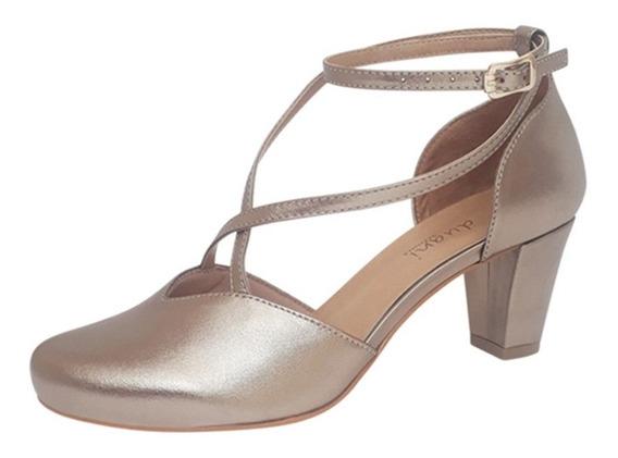 Sapato Dança De Salão Boneca Prata Velha Salto Confortavel