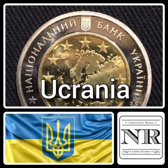Ucrania 5 Grivna - Bimetalica 2009 - Km 548 - Union Europea