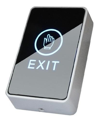 Botón Pulsador Touch Con Luz Y Caja Control De Acceso