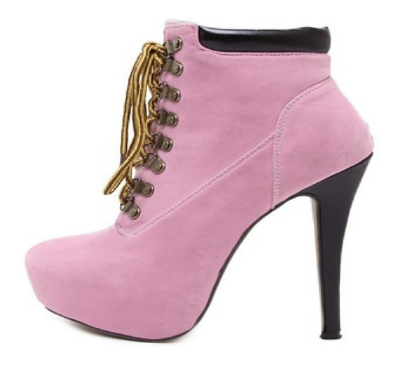 Ankle Boot Importada Salto 14 Cm
