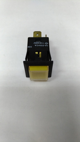 Chave Margirius | 31123 | 3 Term. X Push Button - Amarelo