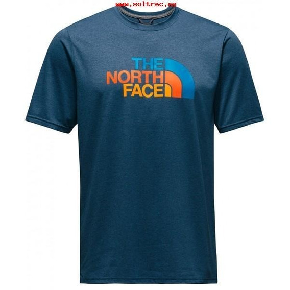 Playera The North Face Hombre Azul Half Dome Rxn Nf0a2w87hkw