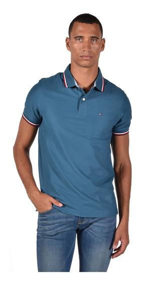 Tommy Hilfiger Polo Para Hombre Azul Mod C8378b2300-462