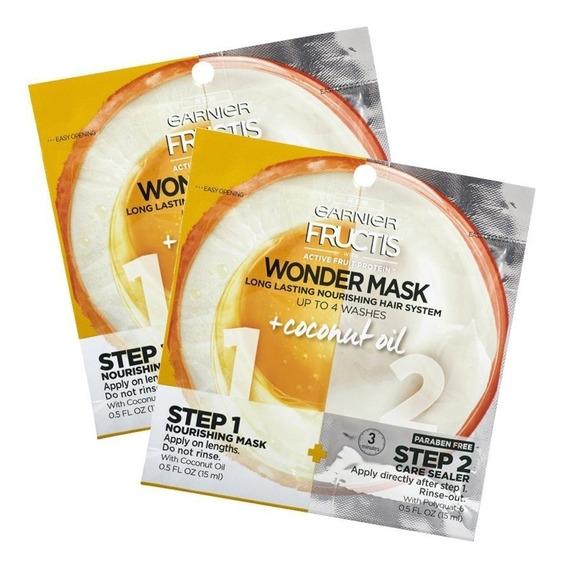 Máscara Capilar Fructis Wondermask 2pasos Aceite De Coco 2un