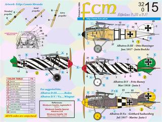 Decalque Fcm 32015 Albatros D.iii E D.v Decal 1/32