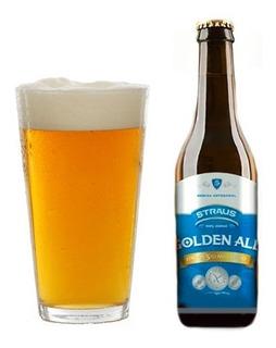 Pack X12 Cerveza Sin Gluten Straus Golden X 335ml Sin Tacc