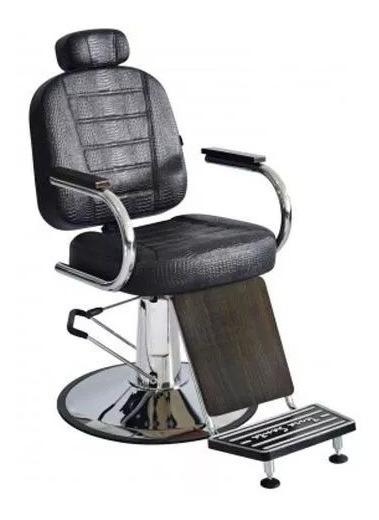 Cadeira De Barbeiro Reclinável Matisse Retrô Terra Santa