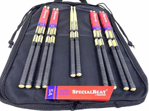 Kit Baqueta 5 Par 5a Specialbeat By Prostick Usa+bag Brinde