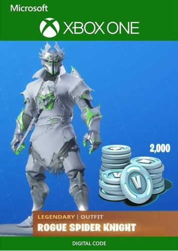 Skin Fortnite: Pack Rogue Spider Knight + 2000 Pavos.