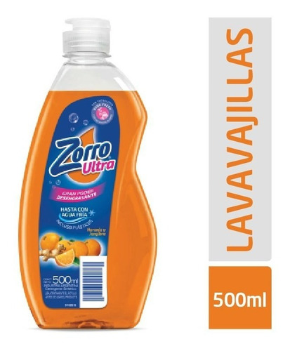 Zorro Ultra Bot 500ml Naranja Y Jengibre