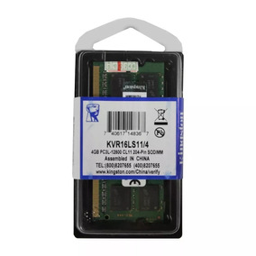 Memória Notebook Kingston Ddr3 1600mhz 1.35v Kvr16ls11/4gb