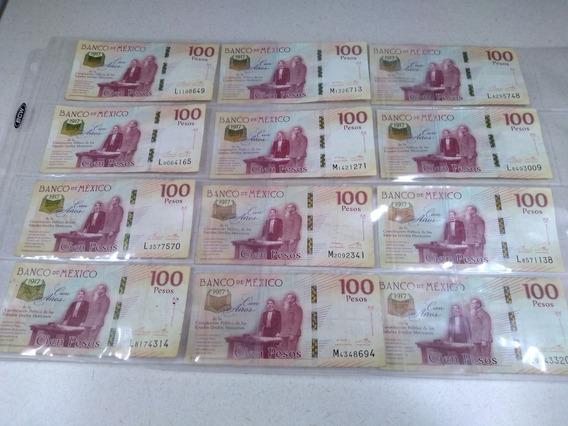 4 Billetes 100 Pesos Centenario Constitucion 1917