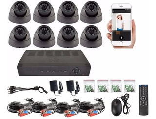 Kit Dvr 8 Camaras Hd 1080p