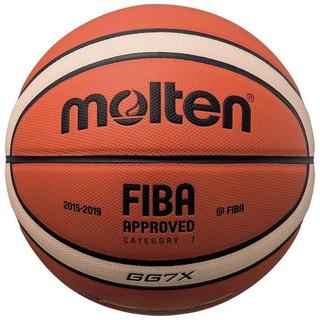 Pelota Basquet Molten Gg7x Oficial Fiba Lnb Cuero Basket