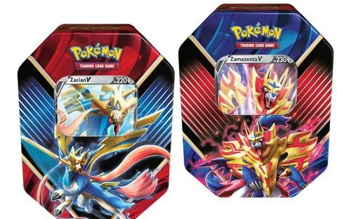 Pokémon Latas Lendas De Galar Zacian V + Zamazenta V