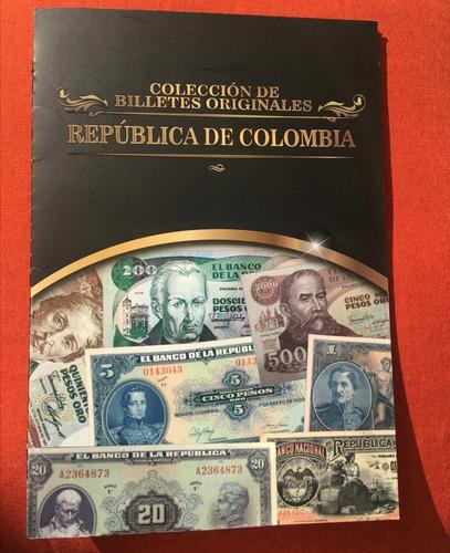 Imagen 1 de 4 de Billetes Colombianos, Folletos De Coleccion Trae 10 Billetes
