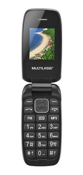 Celular Multilaser Flip Up P9022 Bluetooth Tela 1.8 Preto