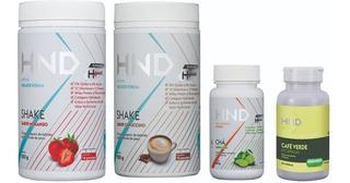 Kit H+ Hnd 02 Shakes + Cha Termogênico 150g + Cafe Verde