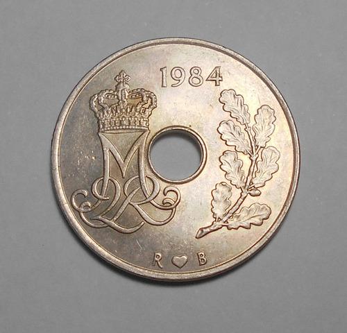 Dinamarca 25 Ore 1984 - Rama Roble - Margrethe Ii - Km#861.3