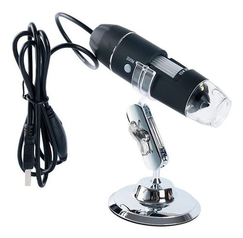 Imagem 1 de 4 de Microscópio Zoom 1600x Cam 2.0 Mp Profissional Digital Usb