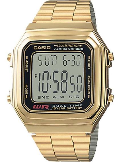 Relógio Casio Vintage Masculino Dourado A178wga-1audf