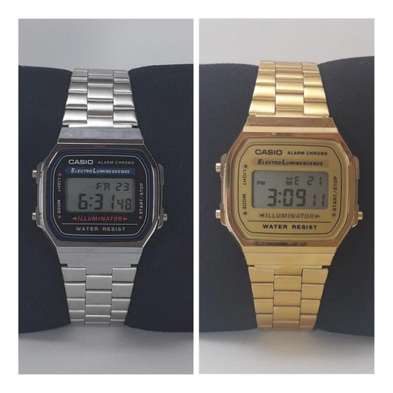 Relogios Casio Dourado E Prata Digital Original Masculinos