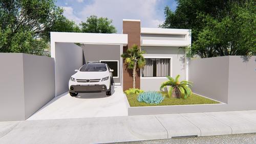 Imagem 1 de 7 de Planta De Casa 2 Quartos - Projeto Completo+aprovação Ea-122