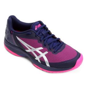 Tênis Asics Gel Court Speed Blue Print Pink Glo # Resolution