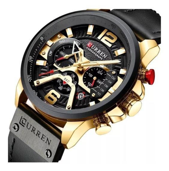 Relógio Curren Social Esportivo Luxo Promoção Pronta Entrega