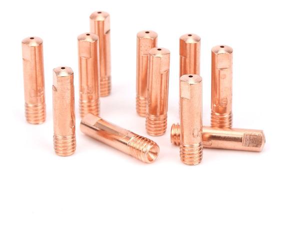 boquilla conductora de cobre para accesorios de soldadura 15AH x 0,9 puntas de soldadura MIG suministros y accesorios de soldadura 60 puntas de contacto de soldadura MIG