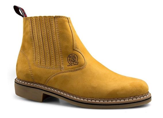 Bota Botina De Roça Masculina Texana Cowboy Rodeio Peao Confortavel Country Couro Bovino Legitimo Nobre Promoçao Ofert