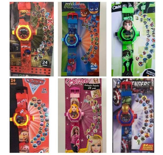 Relógio Infantil Projeta 24 Imagens Atacado 6 Peças