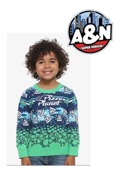 Sweater Toy Story Pizza Planeta Niño Talla 4