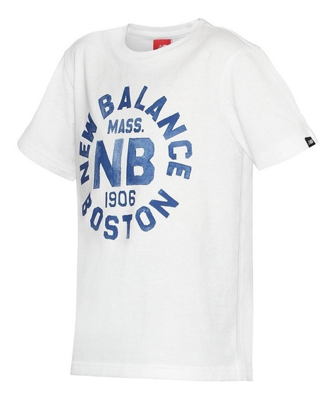 Remera Boston Bco New Balance Niño