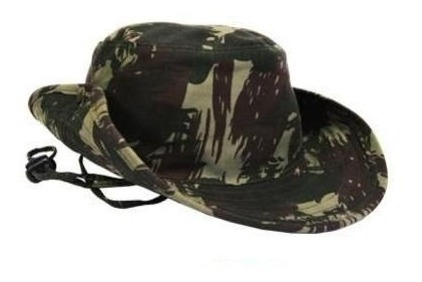 Chapéu Camuflado Selva Tecido Rip Stop Modelo Australiano