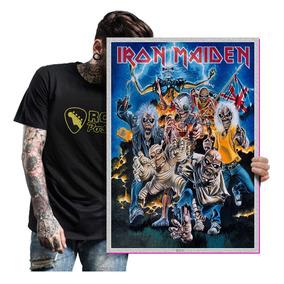 Quadro Placa Eddie Iron Maiden Heavy Metal Tamanho A2 11