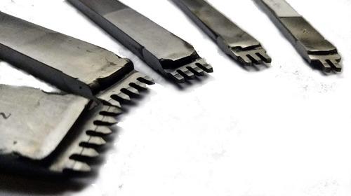 Herramienta Tenedor Marcador Puntadas Cuero 3 Mm 4 Dientes
