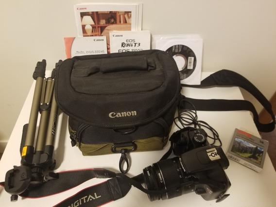 Camera Canon T3 4686 Clicks Bolsa, Filtro, Tripé, Memória...