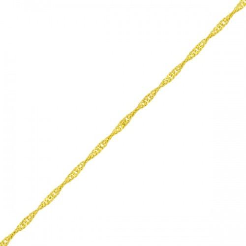 Tornozeleira De Ouro 18k Singapura Com 1.2mm De 24cm To00111