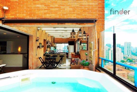 Duplex Surpreendente Com Área Gourmet Fantástica No Brooklin - Co0428
