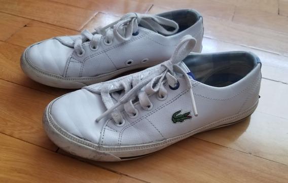 Zapatillas Lacoste Blancas Talle 30