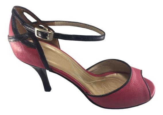 Zapato De Baile Tango Salsa Rock Bachata Rosa Fucsia 7,5