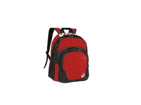 Kit Mochila Asics Team Backpack Vermelha +joelheira Asics+nf