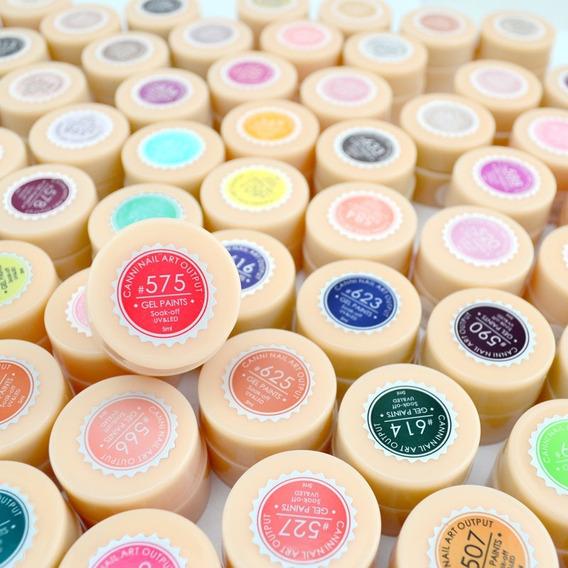 Kit Com 09 Gel Colorido Qualidade Canni À Pronta Entrega