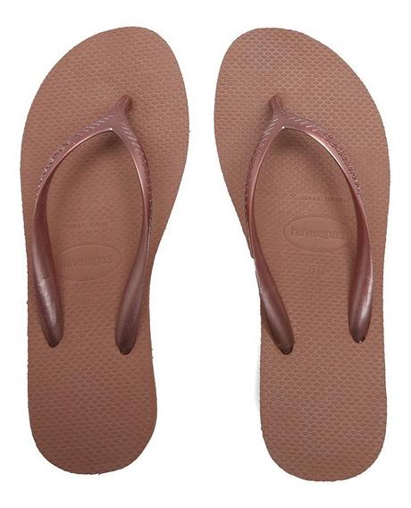 Sandálias Havaianas High Fashion Nude Bronze 4127537-2106