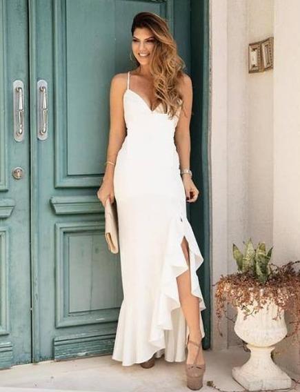Vestido Longo Festa Madrinha Formatura C/ Bojo Pmg#bianca L