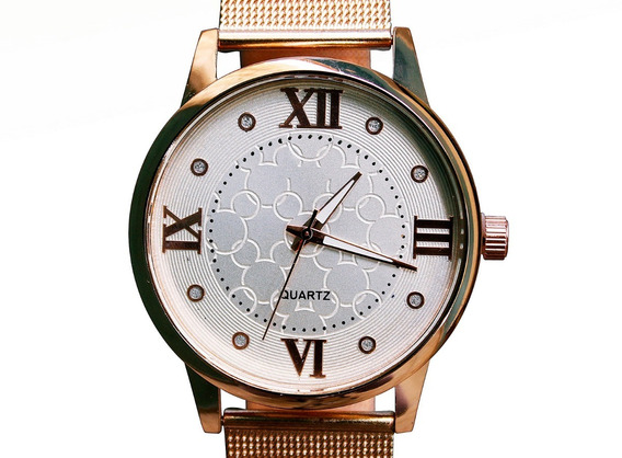 Relógio Feminino Barato Rosê Luxo Casual Moderno Mickey