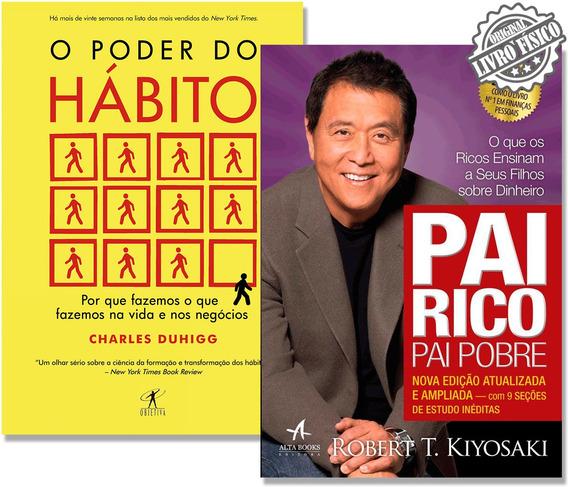 Kit Livros Pai Rico Pai Pobre + O Poder Do Hábito