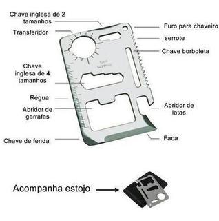 Kit 11 Abre Lata Garrafa Faca Régua Chave Inglesa Borboleta